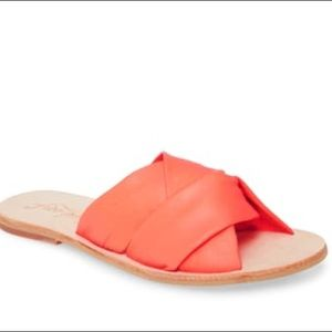NIB Free People Coral Rio Vista Slide Sandals